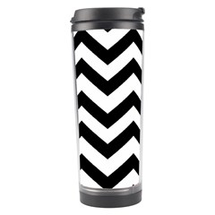 Black And White Chevron Travel Tumbler