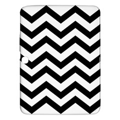 Black And White Chevron Samsung Galaxy Tab 3 (10.1 ) P5200 Hardshell Case