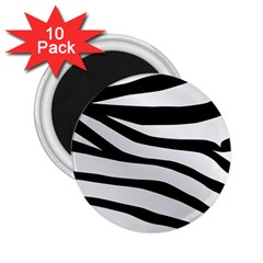 White Tiger Skin 2.25  Magnets (10 pack)