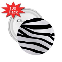 White Tiger Skin 2.25  Buttons (100 pack)
