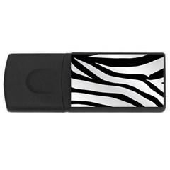 White Tiger Skin USB Flash Drive Rectangular (2 GB)