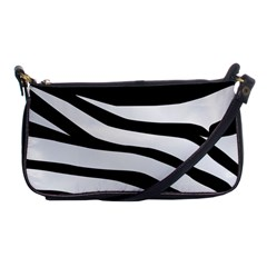 White Tiger Skin Shoulder Clutch Bags