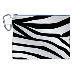 White Tiger Skin Canvas Cosmetic Bag (XXL)