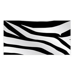 White Tiger Skin Satin Shawl