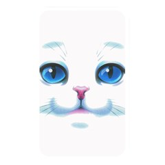 Cute White Cat Blue Eyes Face Memory Card Reader