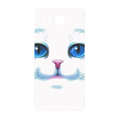 Cute White Cat Blue Eyes Face Samsung Galaxy Alpha Hardshell Back Case