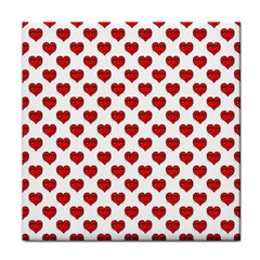 Emoji Heart Shape Drawing Pattern Tile Coasters