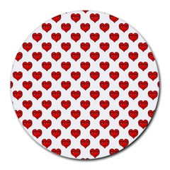 Emoji Heart Shape Drawing Pattern Round Mousepads