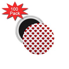 Emoji Heart Shape Drawing Pattern 1.75  Magnets (100 pack)