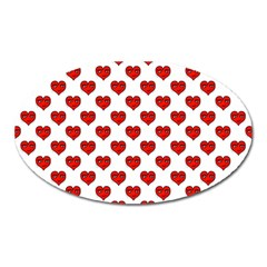 Emoji Heart Shape Drawing Pattern Oval Magnet