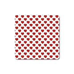 Emoji Heart Shape Drawing Pattern Square Magnet