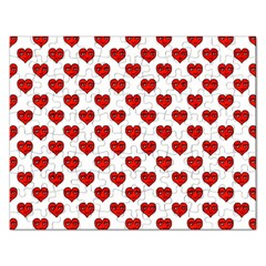 Emoji Heart Shape Drawing Pattern Rectangular Jigsaw Puzzl