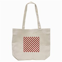 Emoji Heart Shape Drawing Pattern Tote Bag (Cream)