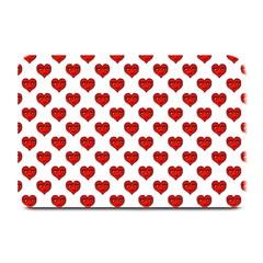 Emoji Heart Shape Drawing Pattern Plate Mats