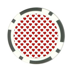 Emoji Heart Shape Drawing Pattern Poker Chip Card Guard