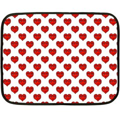 Emoji Heart Shape Drawing Pattern Fleece Blanket (Mini)