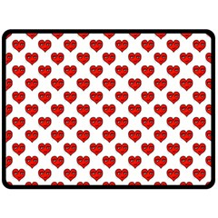 Emoji Heart Shape Drawing Pattern Fleece Blanket (Large)