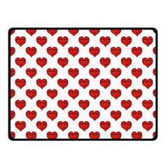 Emoji Heart Shape Drawing Pattern Fleece Blanket (Small)