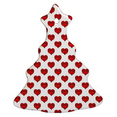 Emoji Heart Shape Drawing Pattern Ornament (Christmas Tree)