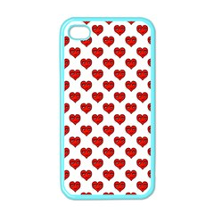 Emoji Heart Shape Drawing Pattern Apple iPhone 4 Case (Color)