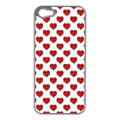 Emoji Heart Shape Drawing Pattern Apple iPhone 5 Case (Silver)