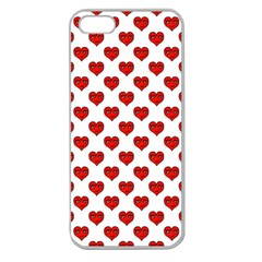 Emoji Heart Shape Drawing Pattern Apple Seamless iPhone 5 Case (Clear)