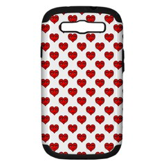 Emoji Heart Shape Drawing Pattern Samsung Galaxy S III Hardshell Case (PC+Silicone)