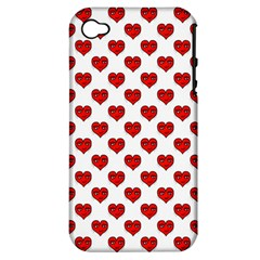 Emoji Heart Shape Drawing Pattern Apple iPhone 4/4S Hardshell Case (PC+Silicone)