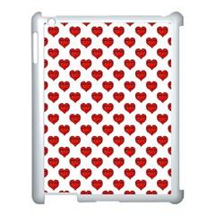 Emoji Heart Shape Drawing Pattern Apple iPad 3/4 Case (White)