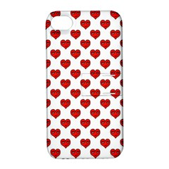 Emoji Heart Shape Drawing Pattern Apple iPhone 4/4S Hardshell Case with Stand