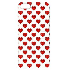 Emoji Heart Shape Drawing Pattern Apple iPhone 5 Hardshell Case with Stand