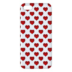 Emoji Heart Shape Drawing Pattern Apple iPhone 5 Premium Hardshell Case