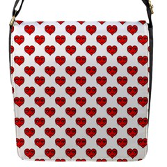 Emoji Heart Shape Drawing Pattern Flap Messenger Bag (S)
