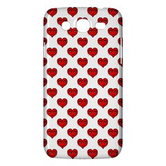 Emoji Heart Shape Drawing Pattern Samsung Galaxy Mega 5.8 I9152 Hardshell Case
