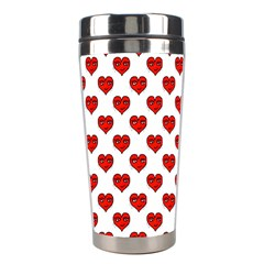 Emoji Heart Shape Drawing Pattern Stainless Steel Travel Tumblers