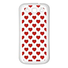 Emoji Heart Shape Drawing Pattern Samsung Galaxy S3 Back Case (White)