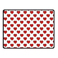Emoji Heart Shape Drawing Pattern Double Sided Fleece Blanket (Small)