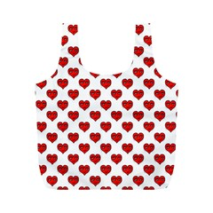 Emoji Heart Shape Drawing Pattern Full Print Recycle Bags (M)