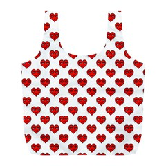 Emoji Heart Shape Drawing Pattern Full Print Recycle Bags (L)