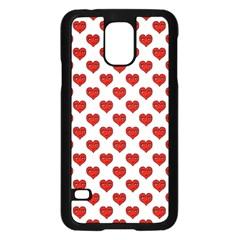 Emoji Heart Shape Drawing Pattern Samsung Galaxy S5 Case (Black)