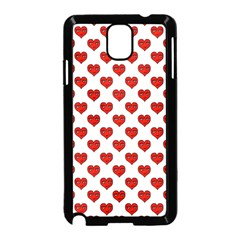Emoji Heart Shape Drawing Pattern Samsung Galaxy Note 3 Neo Hardshell Case (Black)