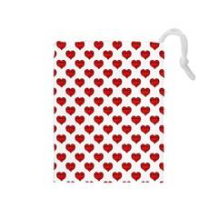 Emoji Heart Shape Drawing Pattern Drawstring Pouches (Medium)