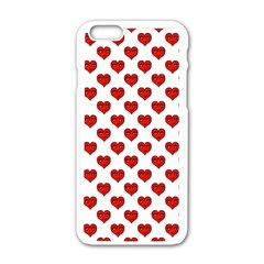 Emoji Heart Shape Drawing Pattern Apple iPhone 6/6S White Enamel Case