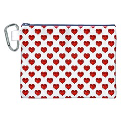 Emoji Heart Shape Drawing Pattern Canvas Cosmetic Bag (XXL)