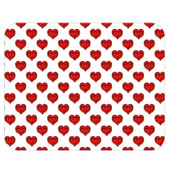 Emoji Heart Shape Drawing Pattern Double Sided Flano Blanket (Medium)