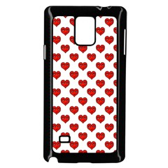 Emoji Heart Shape Drawing Pattern Samsung Galaxy Note 4 Case (Black)