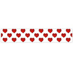 Emoji Heart Shape Drawing Pattern Flano Scarf (Large)