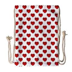 Emoji Heart Shape Drawing Pattern Drawstring Bag (Large)