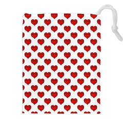 Emoji Heart Shape Drawing Pattern Drawstring Pouches (XXL)