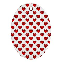 Emoji Heart Character Drawing  Ornament (Oval)